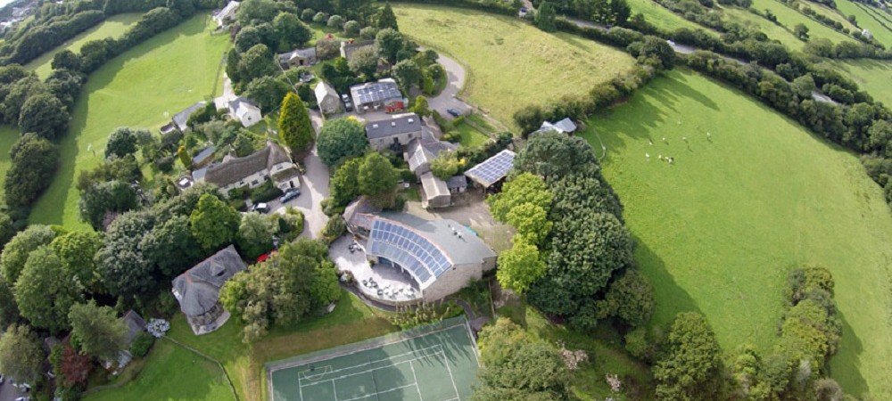 Bosinver holiday cottages aerial shot