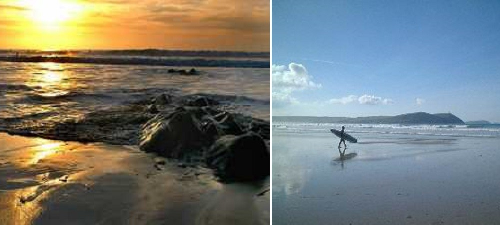 Cargurra Farm holiday cottages Widemouth_Bay_beach