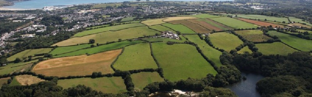 Cornhill Farm Cottages aerial view of the farm
