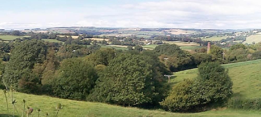 Deer Park Farm view of Dartmoor