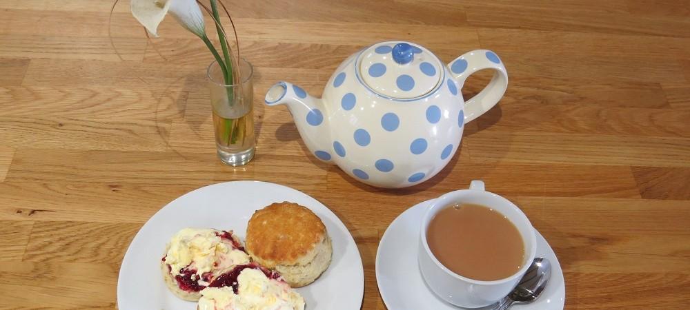 Maddox Down Farm Cottages cream tea