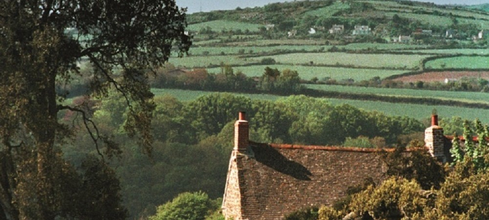 Mudgeon Vean Farm view of valley