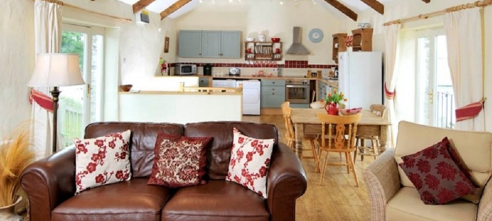 Pollaughan Farm Holiday Cottages Fallow living area