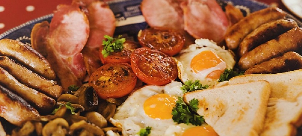 Pollaughan Farm Holiday Cottages breakfast platter