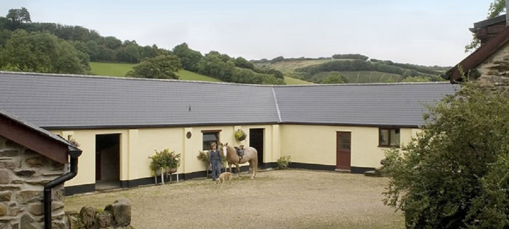 Riscombe Farm horse stables