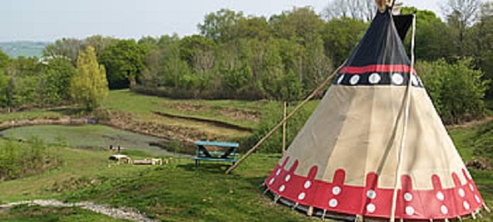 Tamar Valley Tipis - overlooking the lake