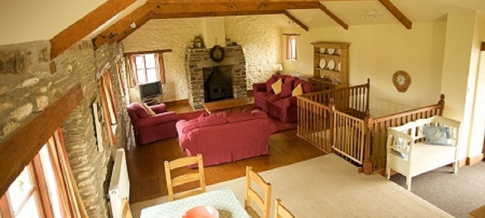 Tredethick Farm Cottages Granary living area