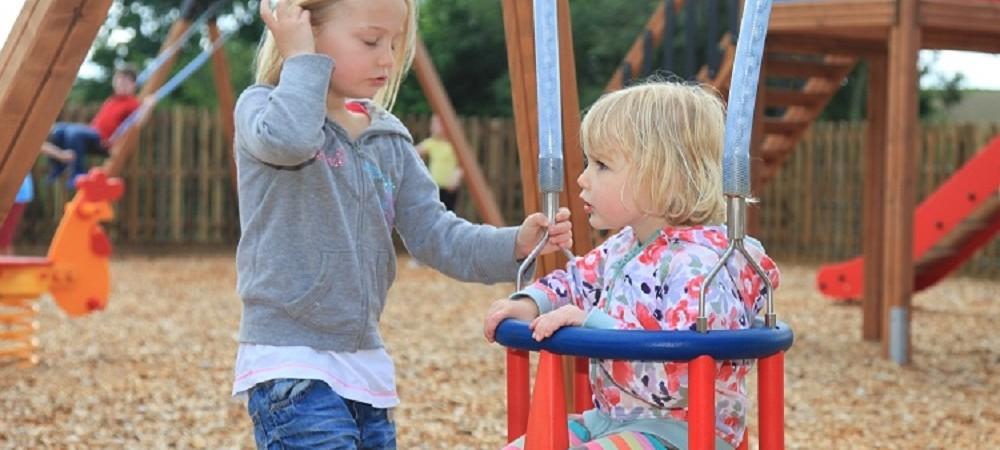 Tredethick Farm Cottages children in playground