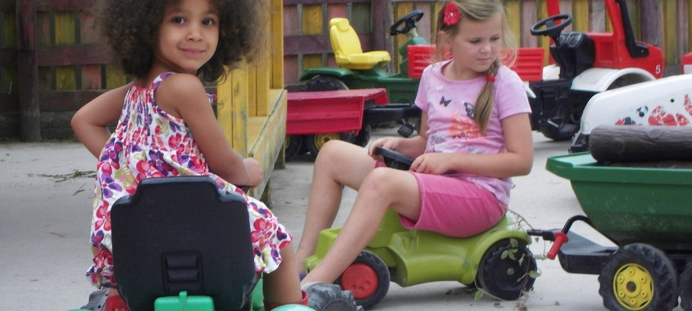 Woodlands Family Theme Park mini tractors
