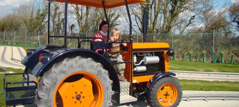 Woodlands Family Theme Park tractor