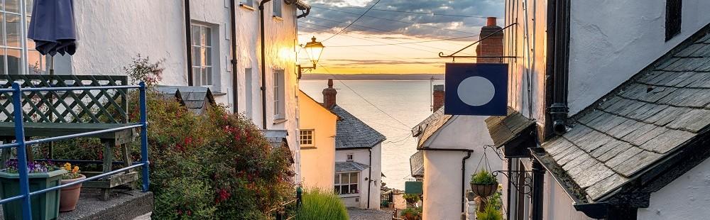 Cobbled streets of Clovelly Devon