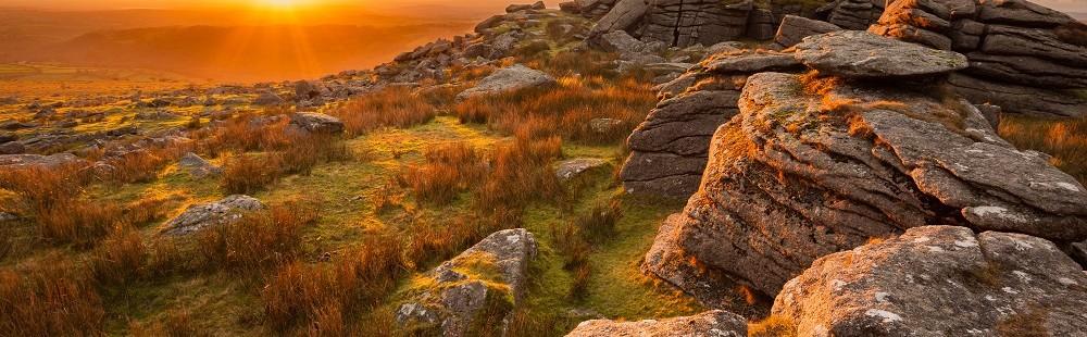 Sunrise over Dartmoor Devon