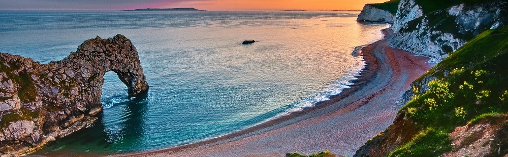 Sunset over Durdle Door Dorset
