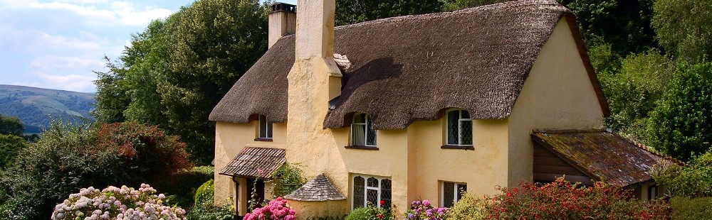 Thatched cottage Selworthy Somerset
