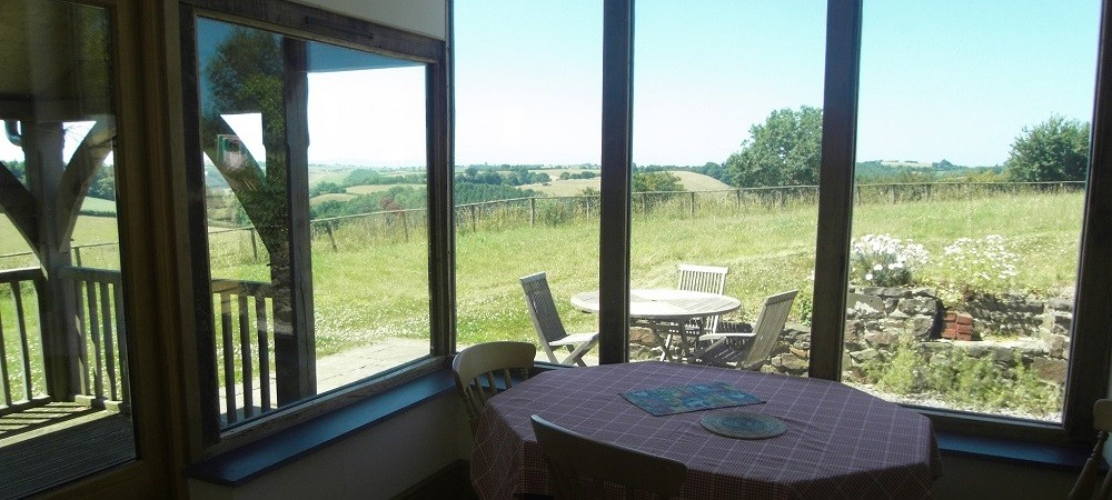 Ashridge Farm Holidays Devon - view from breakfast room