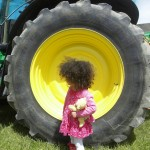 Open Farm Sunday at Rowdefield Farm tractor tyre