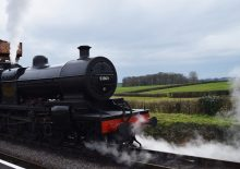 A steam train trip on the West Somerset Railway