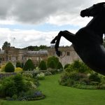 Forde Abbey Dorset with horse statue