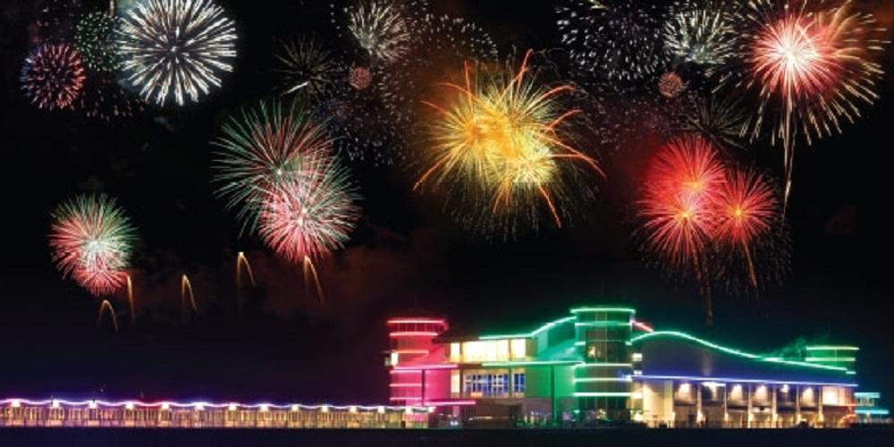 Grand Pier Fireworks Weston super Mare Somerset