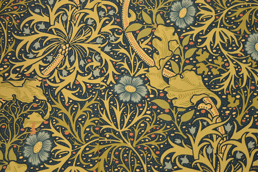 William Morris wallpaper at Lanhydrock House, Cornwall
