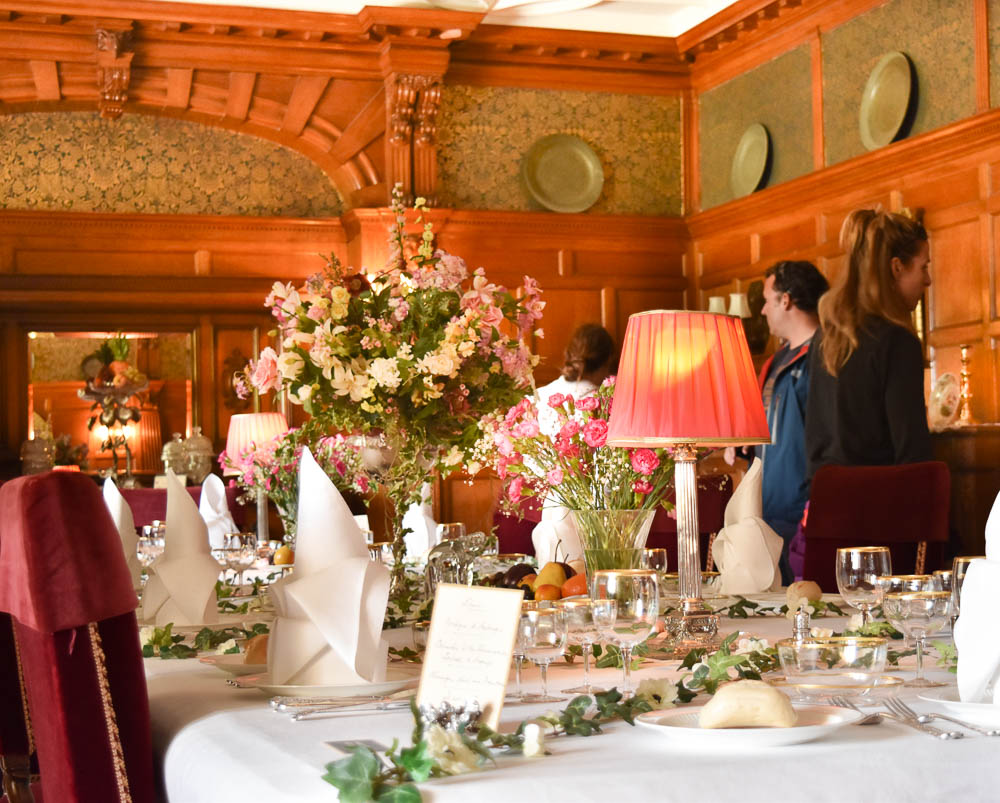 Dining room at Lanhydrock House, Cornwall