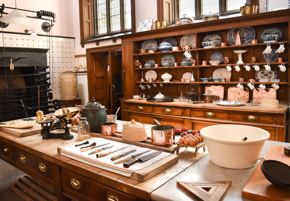 Kitchen at Lanhydrock House, Cornwall