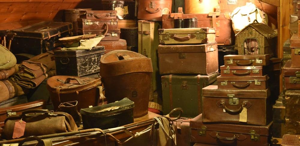 Luggage room at Lanhydrock House, Cornwall