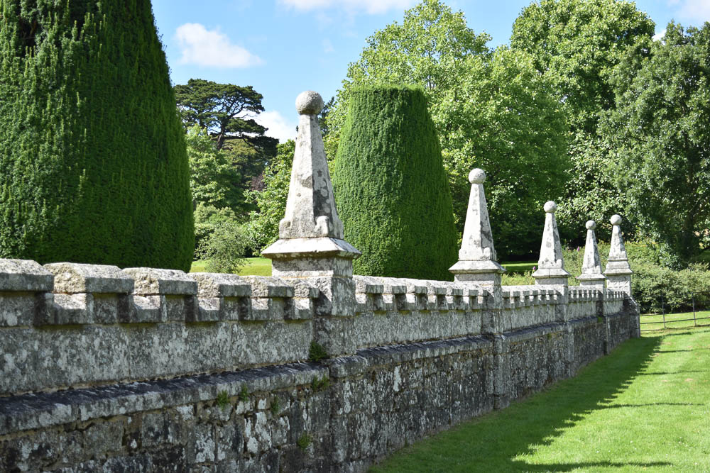 Wall by the gatehouse of Lanhydrock House and Gardens, Cornwall